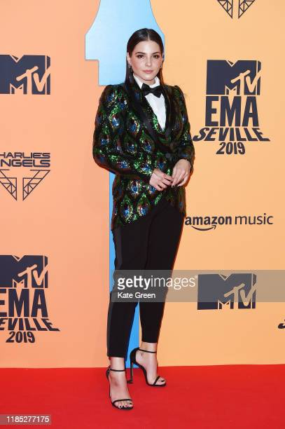 Andrea Duro attends the MTV EMAs 2019 at FIBES Conference and Exhibition Centre on November 03 2019 in Seville Spain