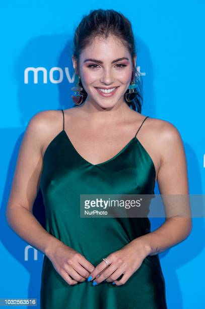 Andrea Duro attends to blue carpet of presentation of new schedule of Movistar at Queen Sofia Museum in Madrid Spain on September 11 2018