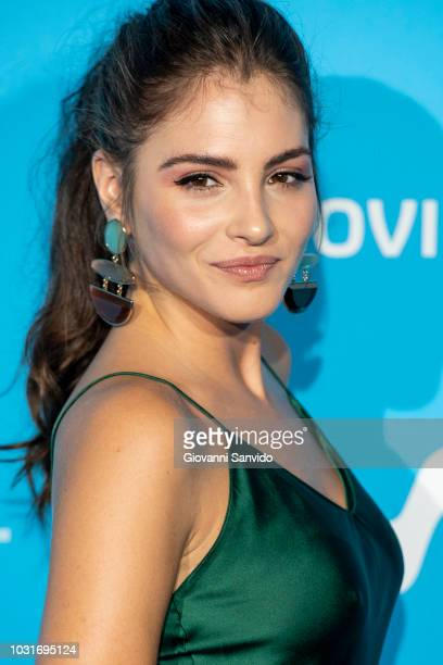 Andrea Duro attends Upfront Movistar Blue Carpet at Reina Sofia Museum on September 11 2018 in Madrid Spain