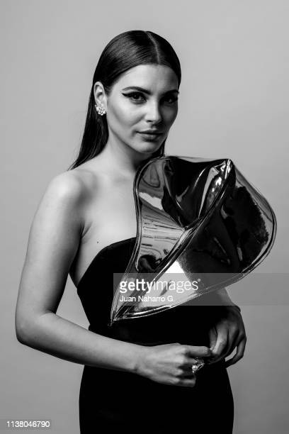 Andrea Duro poses for a portrait session at Teatro Cervantes during 22nd Spanish Film Festival of Malaga on March 23 2019 in Malaga Spain