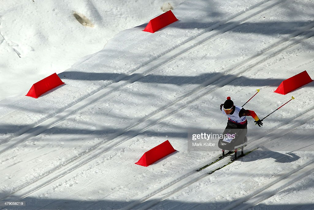 Andrea Eskau of Germany competes in the Women's Cross Country 5km - Sitting on day nine of the Sochi 2014 Paralympic Winter Games at Laura Cross-country Ski and Biathlon Center on March 16, 2014 in Sochi, Russia.