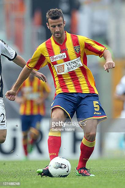Andrea Esposito of US Lecce Fc in action during the Serie A match between AC Siena and US Lecce at Artemio Franchi Mps Arena Stadium on September 25...