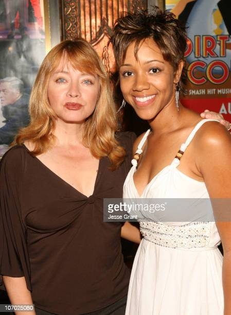 Andrea Evans and Chrystee Pharris during 'Dirty Rotten Scoundrels' Los Angeles Premiere Performance Arrivals at Pantages Theatre in Hollywood...