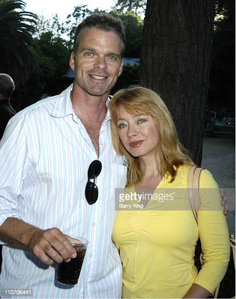 Andrea Evans and her father during Venice Magazine Hosts Picnic and Opening Night of the Los Angeles Philharmonic Classical Tuesday Series at the...