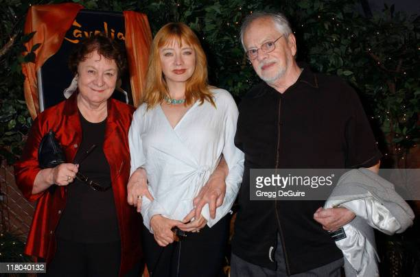 Andrea Evans and parents during Opening Night of 'Cavalia' Arrivals at Big Top in Glendale in Glendale California United States