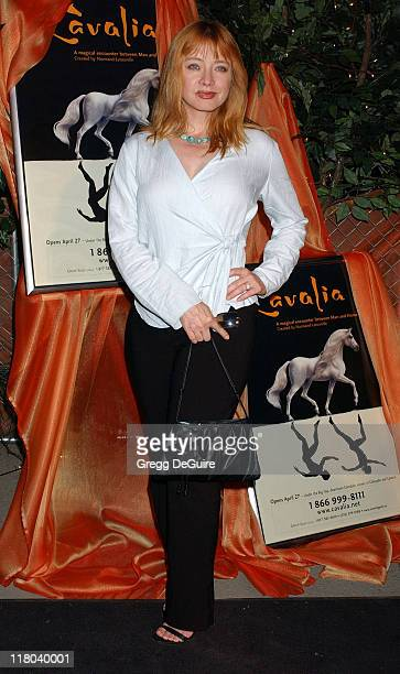 Andrea Evans during Opening Night of 'Cavalia' Arrivals at Big Top in Glendale in Glendale California United States