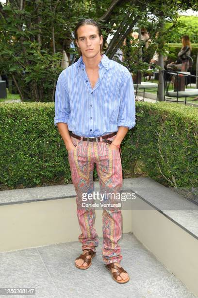 Andrea Faccio is seen on the front row at the Etro fashion show on July 15 2020 in Milan Italy