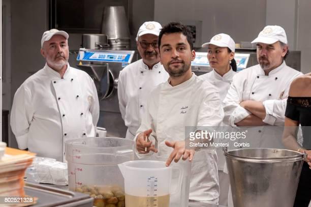 Andrea Fassi Managing Director of Palazzo del Freddo prepares a fig ice cream in the Fassi icecream parlor Lab at Palazzo del Freddo means Palace of...