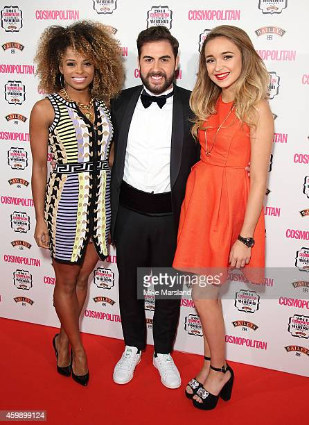 Andrea Faustini Fleur East and Lauren Platt attend the Cosmopolitan Ultimate Women of the Year Awards at One Mayfair on December 3 2014 in London...
