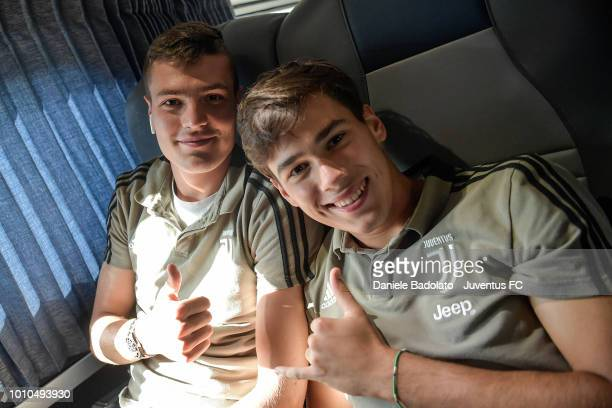 Andrea Favilli and Pietro Beruatto of Juventus pose for photos on August 3 2018 in Washington DC