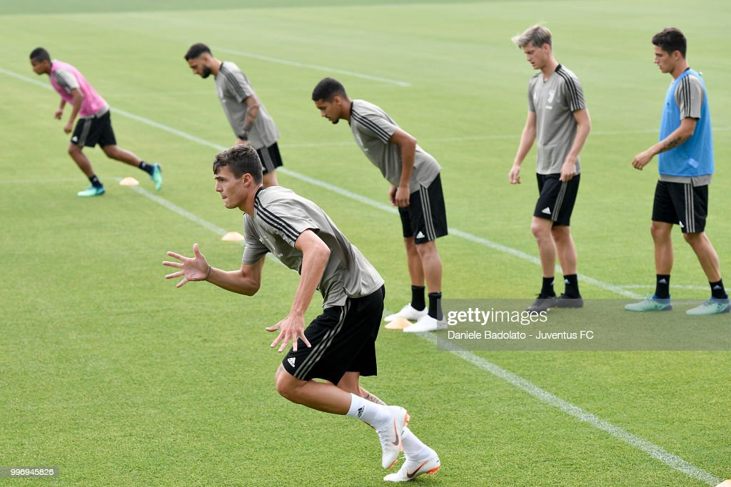Andrea Favilli during a Juventus training session at Juventus Training Center on July 12, 2018 in Turin, Italy.