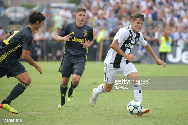 Andrea Favilli in action during the friendly match between Juventus FC and Juventus FC B on August 12 2018 in Villar Perosa Italy