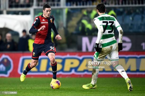 Andrea Favilli of Genoa CFC in action during the Serie A football match between Genoa CFC and US Sassuolo Genoa CFC won 21 over US Sassuolo