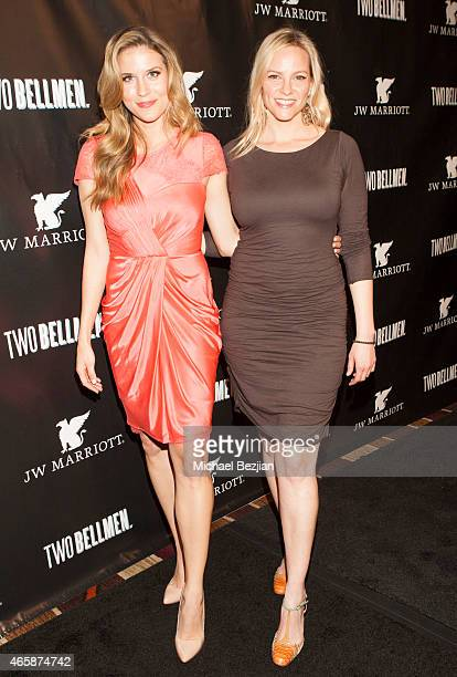 Andrea Feczko and Michelle Ehrman attend JW Marriott Hosts The Premiere Of 'Two Bellmen' at JW Marriot at LA Live on March 10 2015 in Los Angeles...