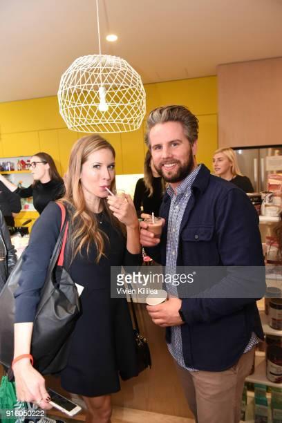Andrea Feczko and Ryan Robertson attend Mashup LA Influencer Event on February 8 2018 in Playa Vista California Photo by Vivien Killilea/Getty Images...