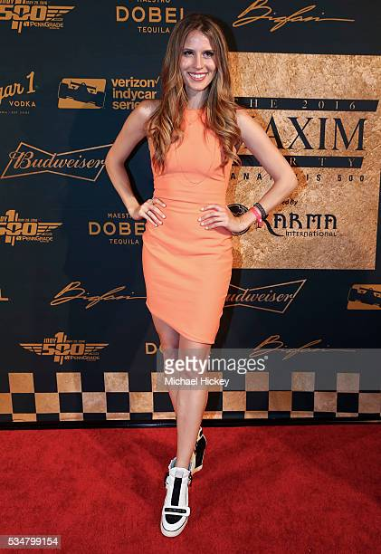 Andrea Feczko is seen at the Maxim Indy 500 Party on May 27 2016 in Indianapolis Indiana