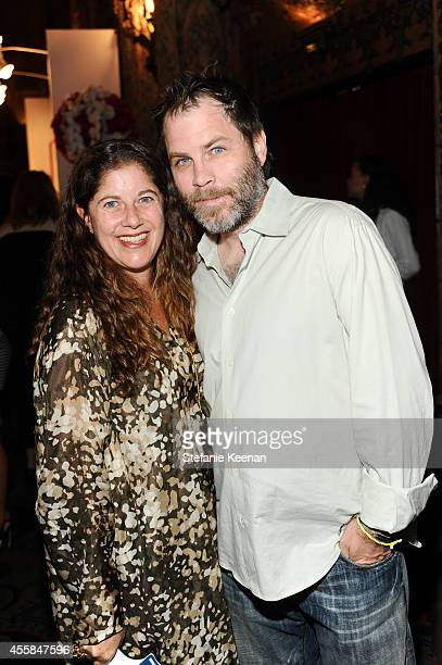 Andrea Feldman Falcione and Greg Falcione attend SEXY BEAST A Benefit For Planned Parenthood Los Angeles on September 20 2014 in Los Angeles...