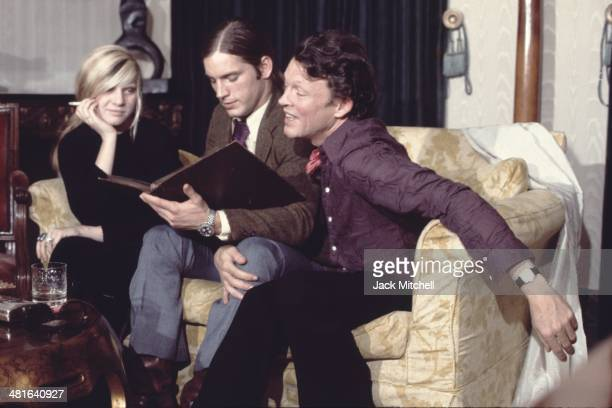 Andrea Feldman Joe Dallesandro and Harold Stevenson filming a scene for Andy Warhol's 'Heat' in 1971