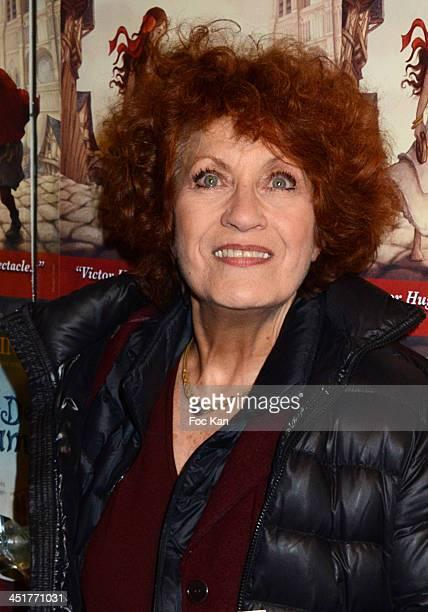 Andrea Ferreol attends the 'Le Bossu de Notre Dame' Premiere at the Theatre Antoine on November 24 2013 in Paris France