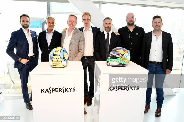 Andrea Ferrero Mark Hankins Kyle Gordon Sylvain Filippi Aldo del Bo D*Face and Cameron Maultby are seen at 'Art Goes Green' event at The New Museum...
