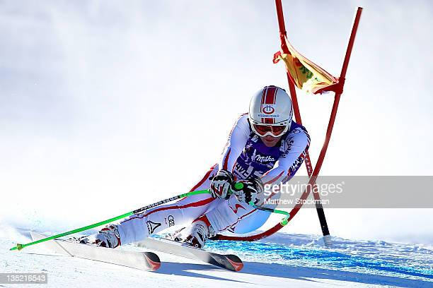 Andrea Fischbacher of Austria competes in the women's SuperG on the Birds of Prey at the Audi FIS World Cup on December 7 2011 in Beaver Creek...