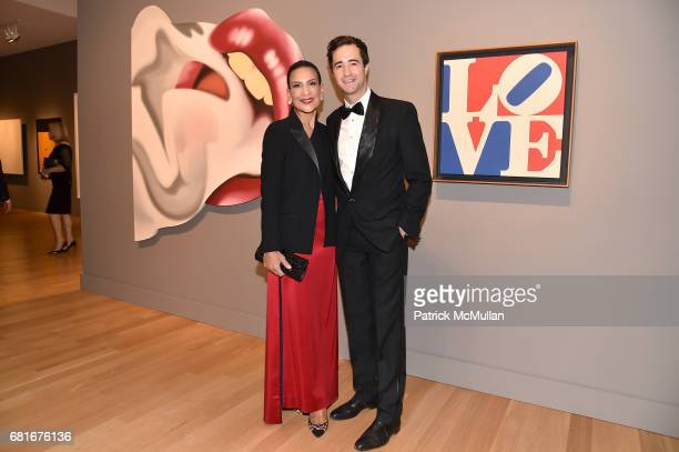 Andrea Fiuczynski and Jeremiah Evarts attend the Alzheimer's Drug Discovery Foundation Eleventh Annual Connoisseur's Dinner at Sotheby's on May 10...