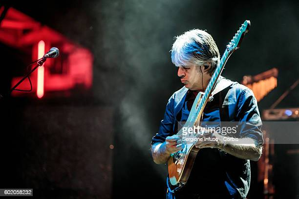 Andrea Fornili of Italian rock band Stadio performs live at CarroPonte in Milan Italy for the Emergency Days with Miss Nostalgia Tour on September 9...