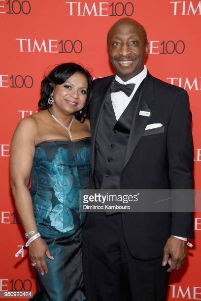 Andrea Frazier and Merck and Co Chairman and CEO Kenneth Frazier attend the 2018 Time 100 Gala at Jazz at Lincoln Center on April 24 2018 in New York...