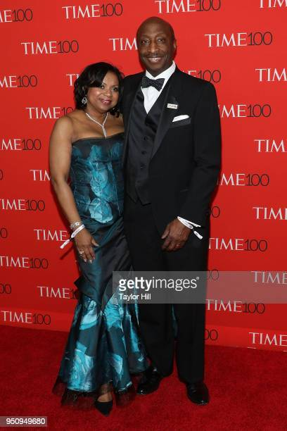 Andrea Frazier and Merck CEO Kenneth Frazier attends the 2018 Time 100 Gala at Frederick P Rose Hall Jazz at Lincoln Center on April 24 2018 in New...