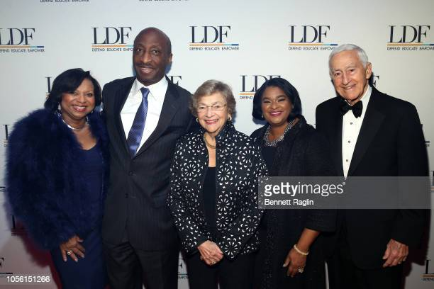 Andrea Frazier Kenneth Frazier Diana Vagelos Robyn Coles and Dr P Roy Vagelos attend the NAACP LDF 32nd National Equal Justice Awards Dinner at The...