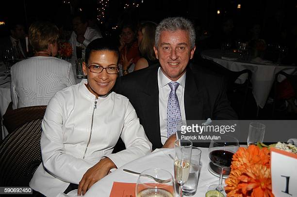 Andrea Fujinski and Roger McIllroy attend Basquiat Exhibition Preview at MOCA on July 15 2005 in Los Angeles CA
