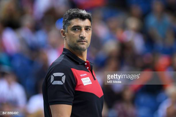 Andrea Giani of Germany during the European Men's Volleyball Championships 2017 playoff match between Serbia and Germany on August 2 2017 in Krakow...