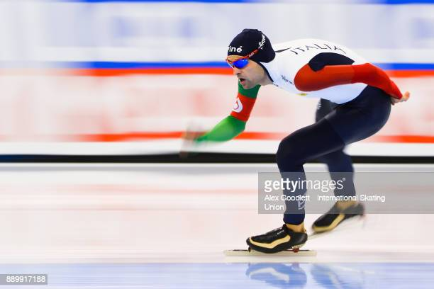 Andrea Giovannini of Italy competes in the men's 5000 meter final during day 3 of the ISU World Cup Speed Skating event on December 10 2017 in Salt...