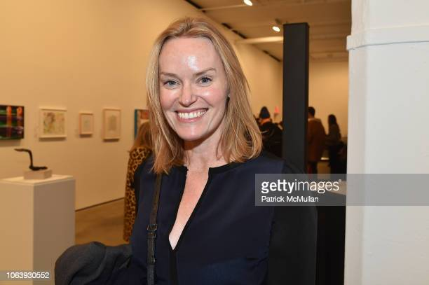 Andrea Glimcher attends Artists For Equality at Sean Kelly Gallery on October 22 2018 in New York City