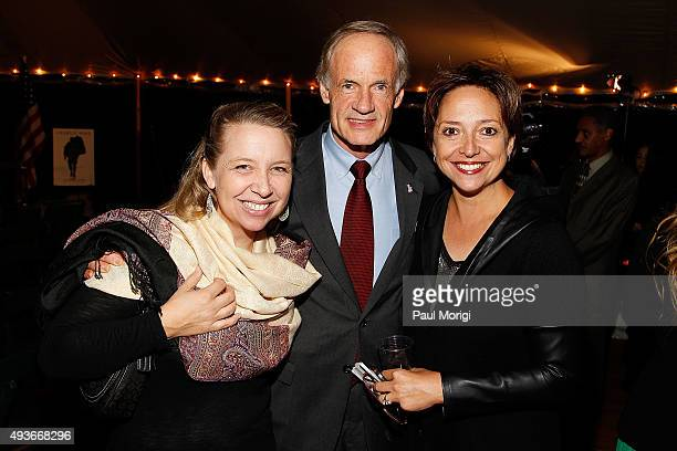 """Andrea Gluckman, Sen. Tom Carper and Wendy Anderson, Partner, Strong Eagle Media, attend the Washington D.C. Book party for Joe Klein's """"Charlie..."""