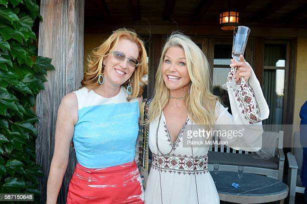 Andrea Greeven Douzet and Christie Brinkley attend Tom Diane Tuft and Christina Cuomo Celebrate the Launch of Jay McInerney's New Novel Bright...
