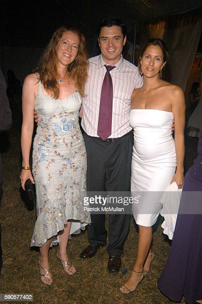 Andrea Greeven Douzet, Rob Fox and Cristina Greeven Cuomo attend SAFARI SUMMER Benefit for the Departmant of Emergency at Southampton Hospital at...