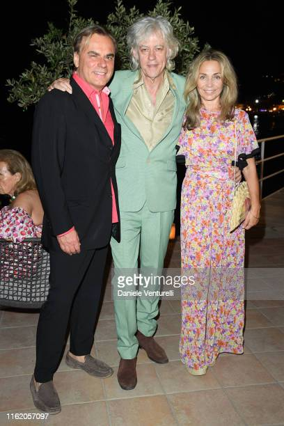 Andrea Griminelli Bob Geldof and Jeanne Marine attends the 2019 Ischia Global Film Music Fest opening ceremony on July 14 2019 in Ischia Italy