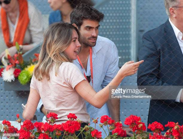 Andrea Guasch and Juan Betancourt during day three of the Mutua Madrid Open tennis tournament at the Caja Magica on May 7 2018 in Madrid Spain
