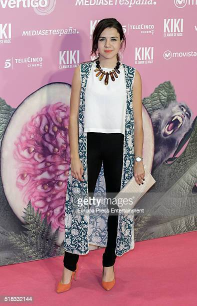 Andrea Guasch attends 'Kiki el amor se hace' premiere at Capitol cinema on March 30 2016 in Madrid Spain