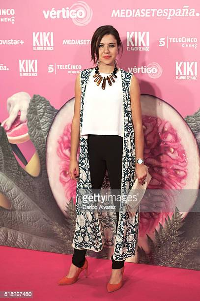 Andrea Guasch attends Kiki El Amor Se Hace premiere at the Capitol premiere on March 30 2016 in Madrid Spain