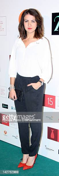 Andrea Guasch attends Malaga Film Festival 2012 cocktail presentation at Real Fabrica de Tapices on April 11 2012 in Madrid Spain