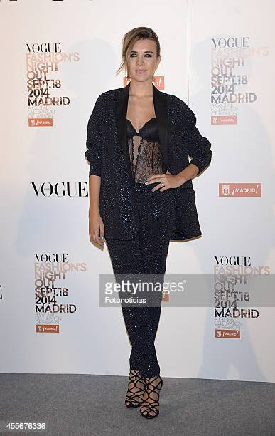 Andrea Guasch attends the Vogue Fashion's Night Out Madrid 2014 on September 18 2014 in Madrid Spain