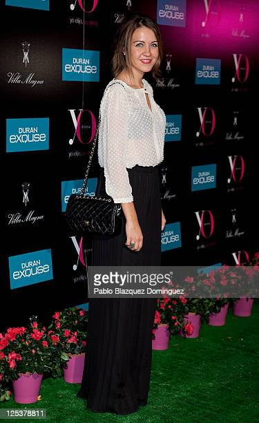 Andrea Guasch attends 'Yo Dona' Magazine's coctail party at Hotel Villamagna on September 16 2011 in Madrid Spain