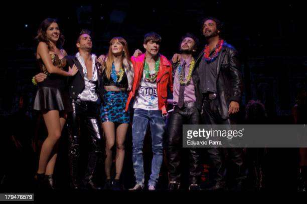 Andrea Guasch David Carrillo Ana Polvorosa Adrian Lastra Canco Rodriguez and Alejandro Vega dance during rehearsals for the press during the...