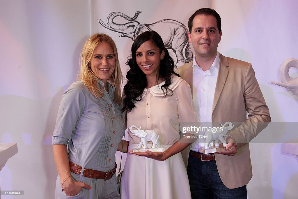 Andrea Guenther, Collien Fernandes and Hannes Heyelmann attend the award event 'Kinder-Medien-Preis 2013 at Gasteig on June 30, 2013 in Munich, Germany.Cartoon Network's local production 'Cartoon Network Spurensuche - Schnitzeljagd war gestern' with host Collien Ulmen-Fernandes was awarded at the event.