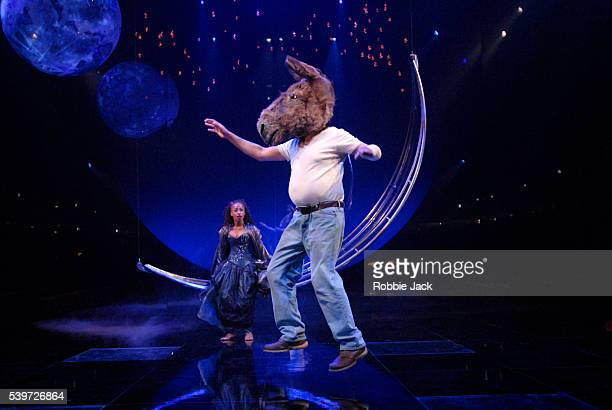 Andrea Harris and Joe Dixon perform in the Royal Shakespeare's production of William Shakespeare's play A Midsummer Night's Dream at the Courtyard...