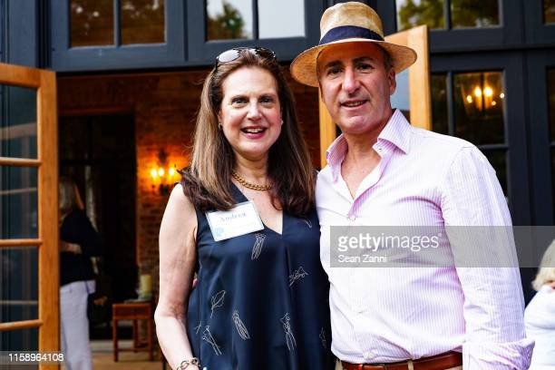 Andrea Hart and Alex Latzer attend A Country House Gathering To Benefit Preservation Long Island on June 28 2019 in Locust Valley New York