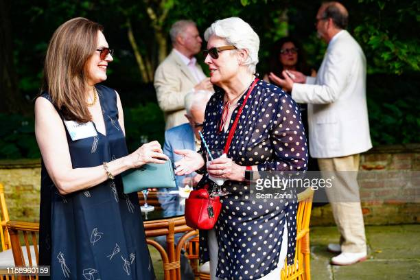 Andrea Hart and Anita McDougal attend A Country House Gathering to benefit Preservation Long Island on June 28 2019 in Locust Valley New York