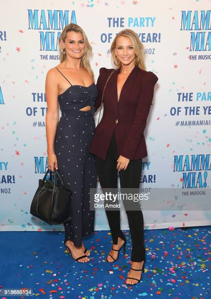 Andrea Heinrich and Anna Heinrich arrive ahead of the premiere of Mamma Mia The Musical at Capitol Theatre on February 15 2018 in Sydney Australia